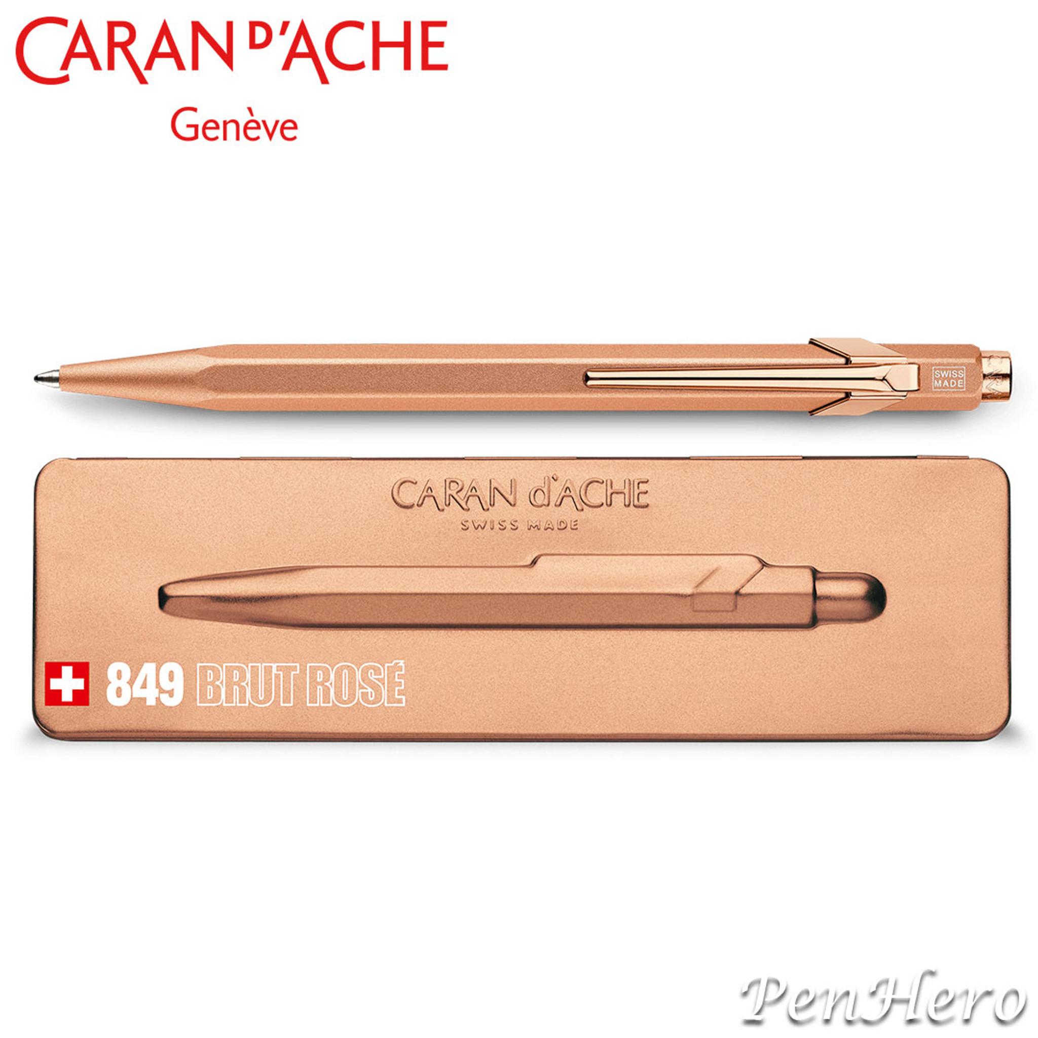 Genuine Caran D/'Ache Brut Rose 849 Ballpoint Pen BNIB
