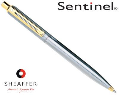 Sheaffer Sentinel Brushed Chrome G/T Ballpoint Pen