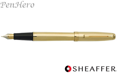 Sheaffer Prelude Fluted 22 Karat Gold Plate Fountain Pen Medium