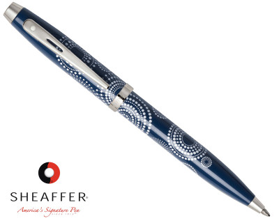 Sheaffer 100 Gloss Blue Pattern Ballpoint Pen