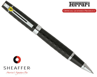 Sheaffer Ferrari 300 Checkered Flag Black Rollerball Pen