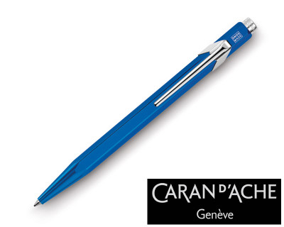 Caran d'Ache 849 Metal X Blue Ballpoint Pen