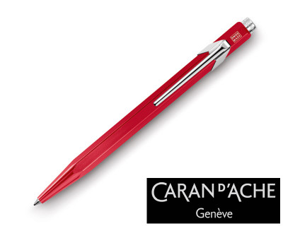 Caran d'Ache 849 Metal X Red Ballpoint Pen
