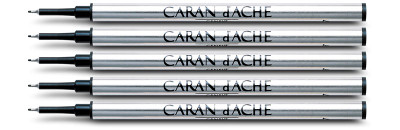 Caran d'Ache Blue Fibre Ink Cartridge Fine Point 5 Pack