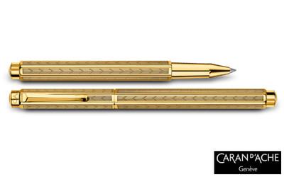 Caran d'Ache Gold-plated Ecridor Chevron Rollerball Pen