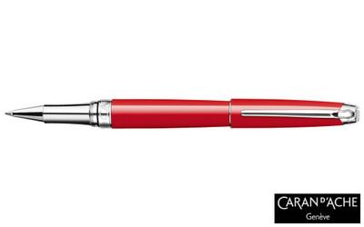 Caran d'Ache Leman Scarlet Red Silver-Plate Trim Rollerball Pen