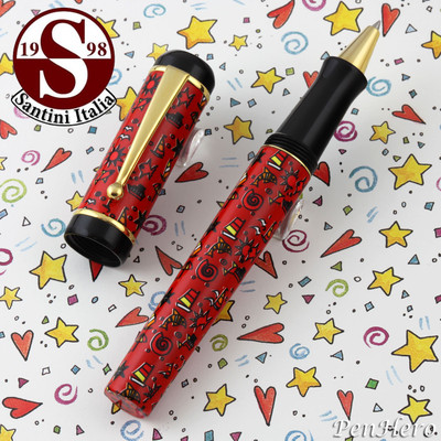 Santini Italia Hawaii Red Rollerball Pen