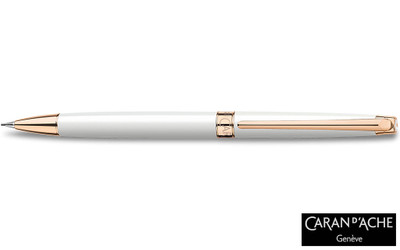 Caran d'Ache Leman Slim White Rosegold Mechanical Pencil