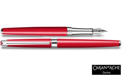 Caran d'Ache Leman Slim Scarlet Red Fountain Pen