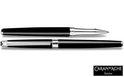 Caran d'Ache Leman Slim Black Ebony Rollerball Pen