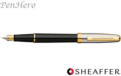 Sheaffer Prelude Black Onyx Lacquer / Palladium Plate Cap G/T Fountain Pen