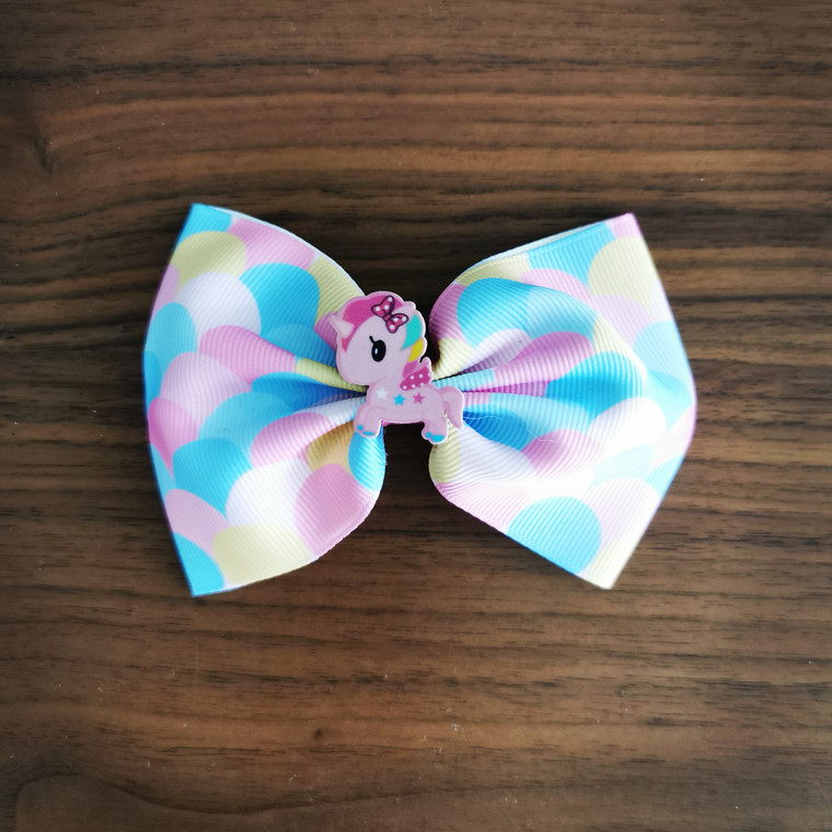 Unicorn Rainbow Hairbow Clip