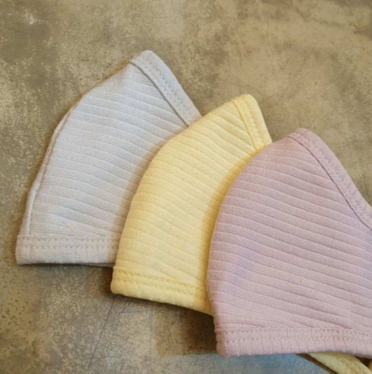 Ribbed Cotton Mask Kids