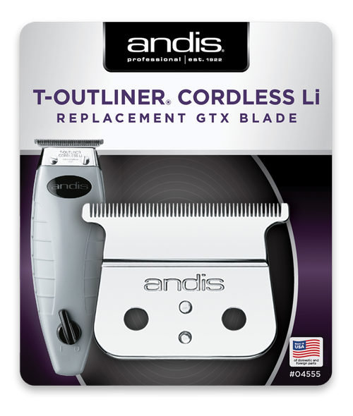 Andis Cordless T-Outliner Li Replacement Blade - Carbon Steel