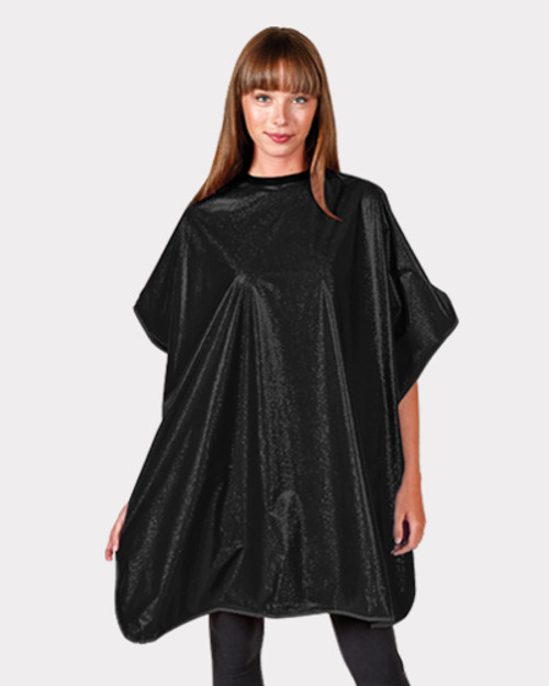 Betty Dain Black Solid Shampoo Cape
