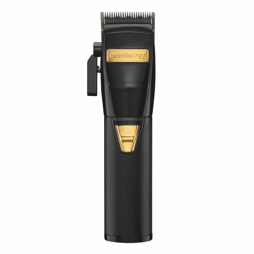 """BaByliss Pro Black FX """"Stay Gold"""" Metal Lithium Clipper"""