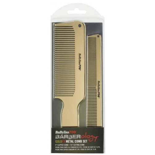 BaByliss Pro Barberology Gold FX Metal Combs