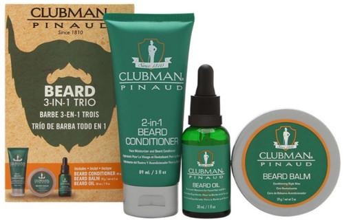 Clubman Pinaud Beard Kit 3 Pack