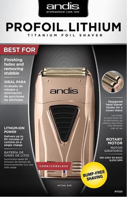 Andis Copper ProFoil Lithium Shaver