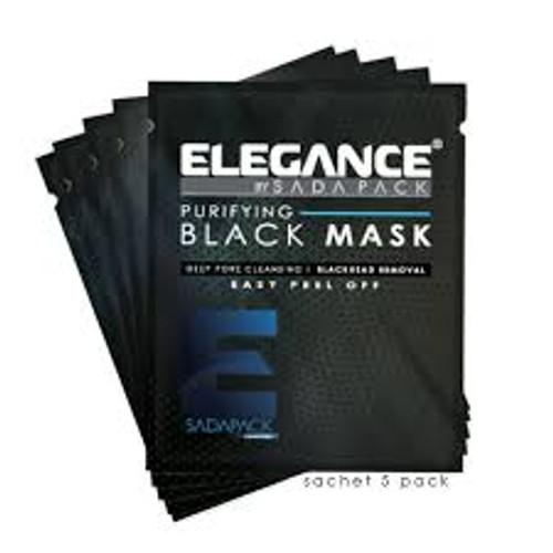 Elegance Black Peel-Off Facial Mask Sachets - 5 Pack - 30ml Each