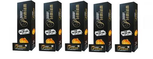 Derby Premium Double Edge Razor Blades 100ct-5PK