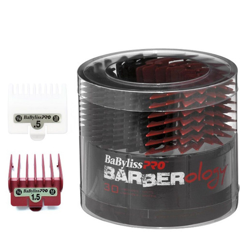 BabylissPro Barberology Comb Guide #1 & 1/2 Red