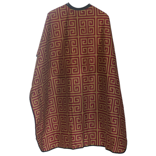 Styletek Barber Red and Gold Milan  Cape