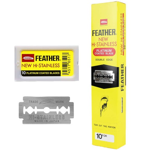 Feather Hi-Stainless Double Edge Blades (200 Blades)