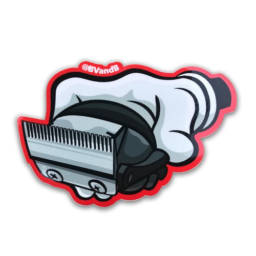 Blood Veins and Bandages Catching Fades Barber Sticker