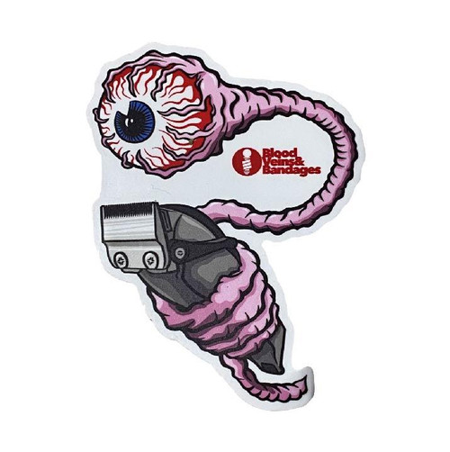 Blood Veins and Bandages Perspective Barber Sticker
