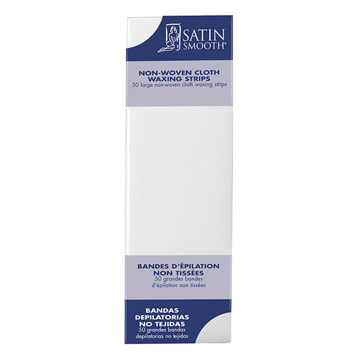 Satin Smooth Large Non-Woven Cloth Waxing Strips 50 Pack