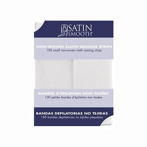 Satin Smooth Small Non-Woven Cloth Waxing Strips 100 Pack