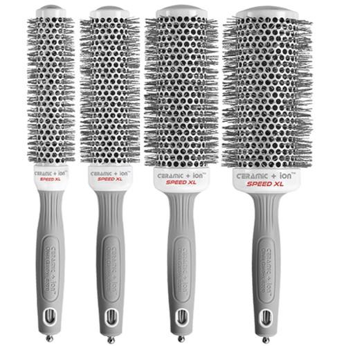 Olivia Garden Ceramic + Ion Speed XL Thermal Brush 4 Pcs Box Deal