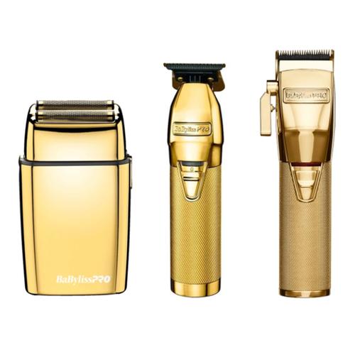 BaByliss PRO Gold FX Skeleton Trimmer, Cordless FX Clipper, Double Foil Shaver Combo