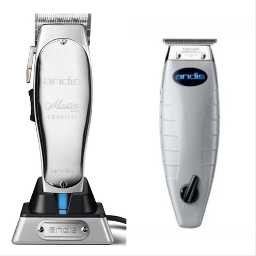Andis Cordless Master Clipper and Cordless T Outliner Trimmer Combo