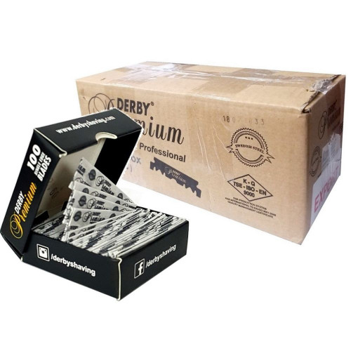 Derby Premium Single Edge Razor Blades - (100 Blades X 50 Pack)