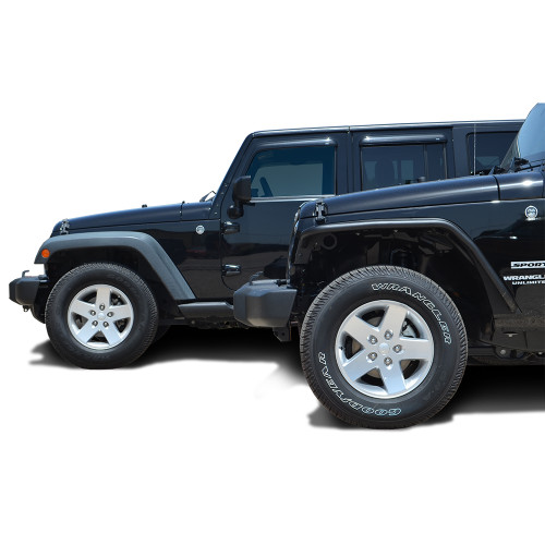 BlkMtn Steel Fender Flares Black Textured Finish (set of 4) for JK and JKU