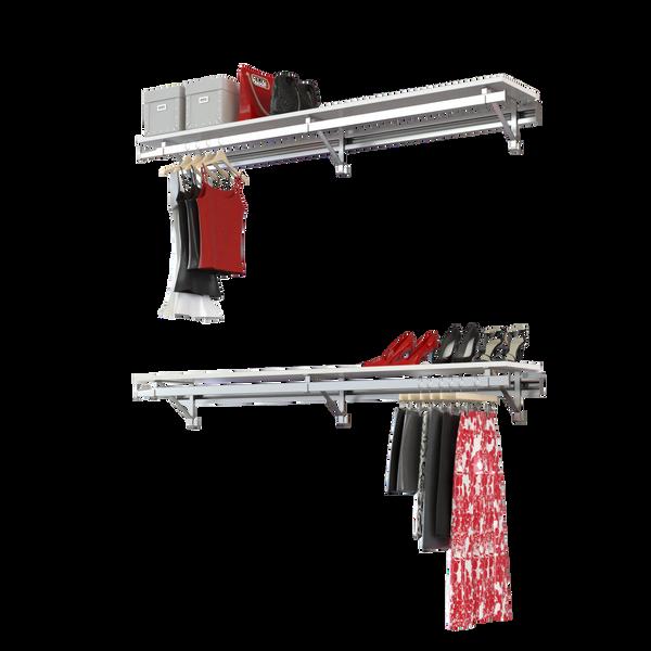 Arrange a Space RCMBX Premium Closet Organizer System Double Shelf/Hang Rod kit