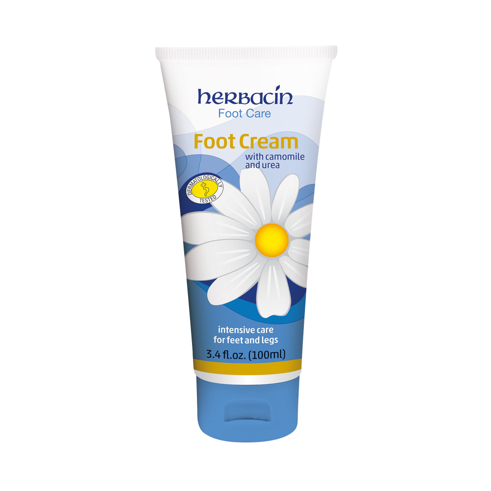 Herbacin Foot Care Foot Cream - tube 3.4 fl.oz.