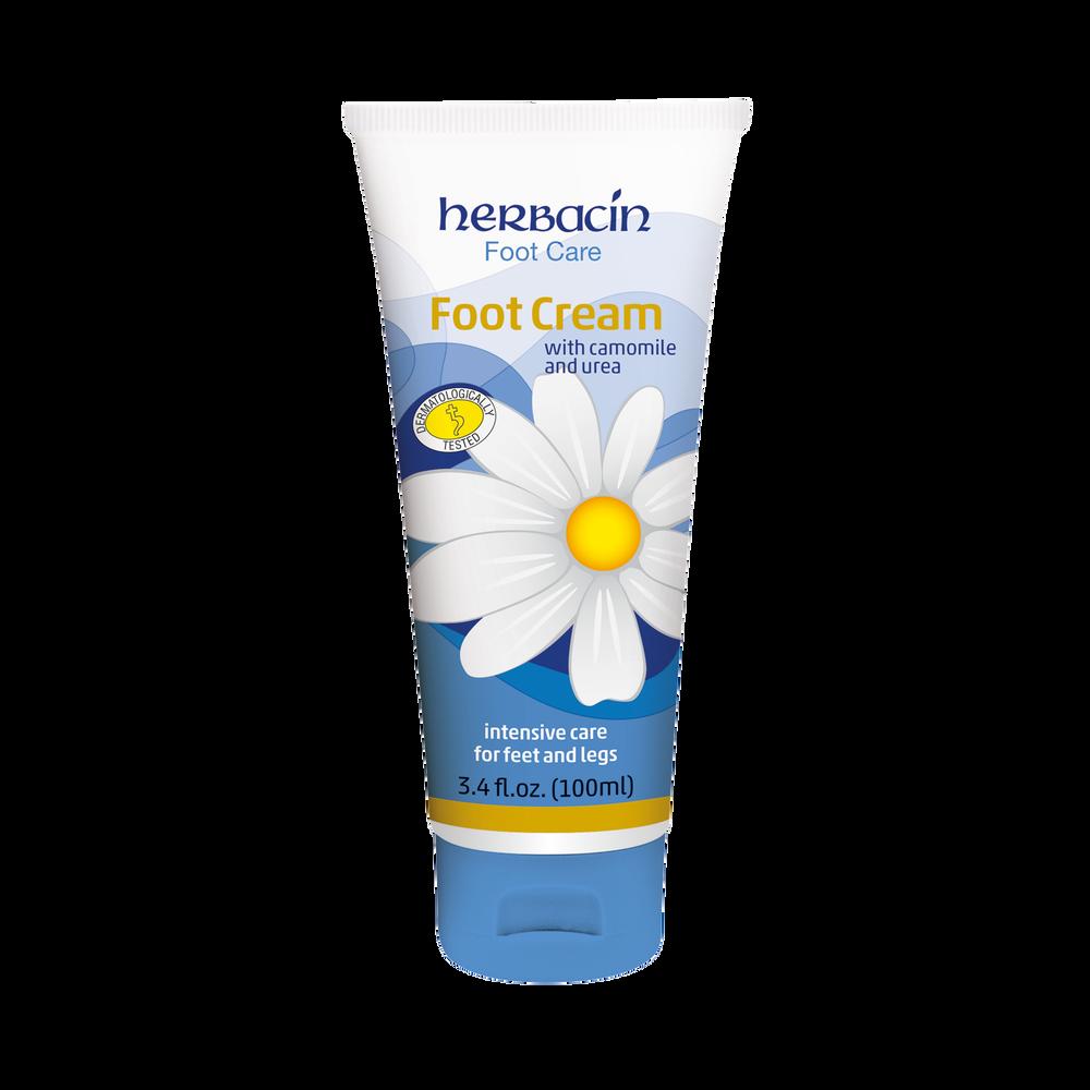 Herbacin Foot Care Foot Cream - tube 3.4 fl.oz.