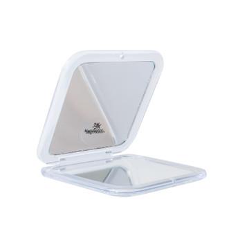 Portable folding cosmetic mirror