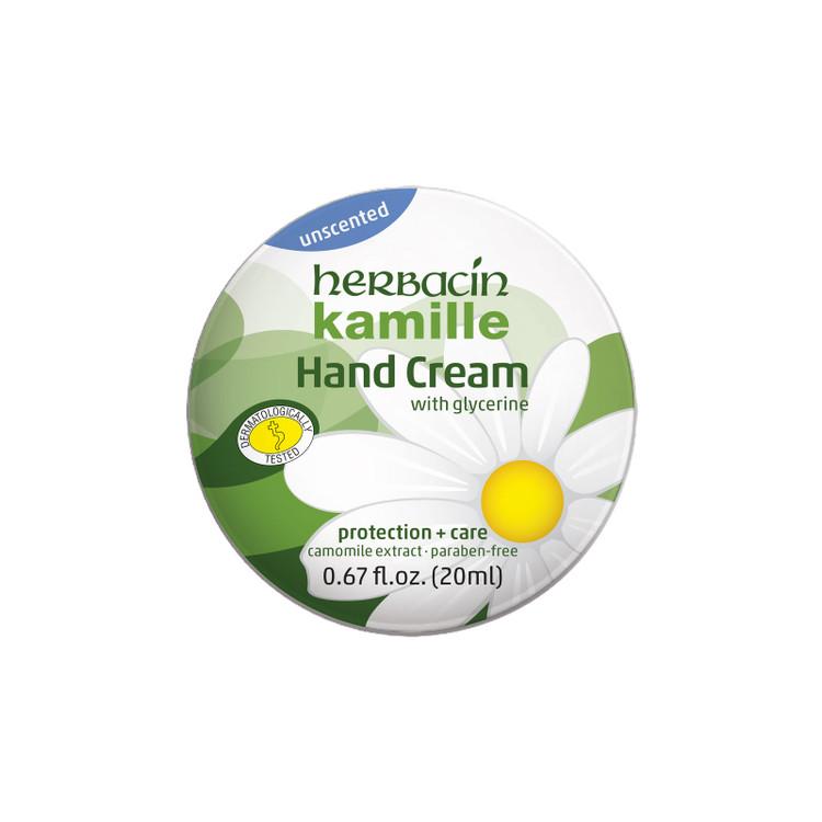 Herbacin kamille Hand Cream - unscented - tin .67 fl. oz.