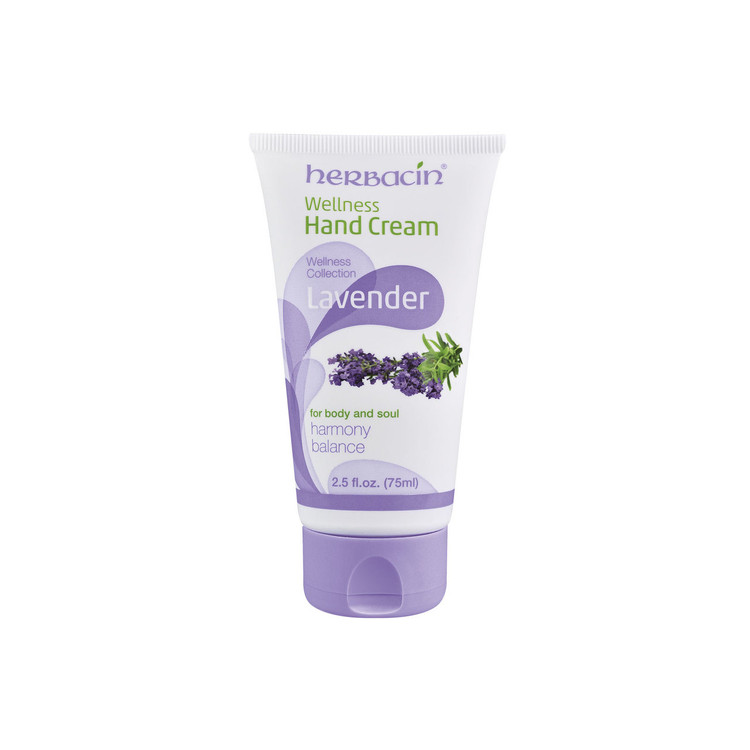 Herbacin Wellness Hand Cream - Lavender - tube 2.5 fl.oz.