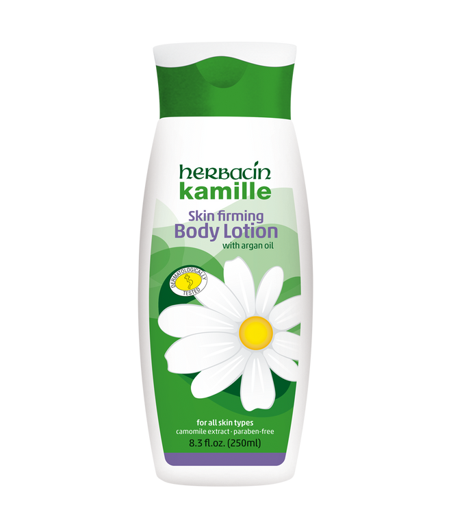 Herbacin kamille Body Lotion - with Argan Oil - bottle 8.3 fl.oz.