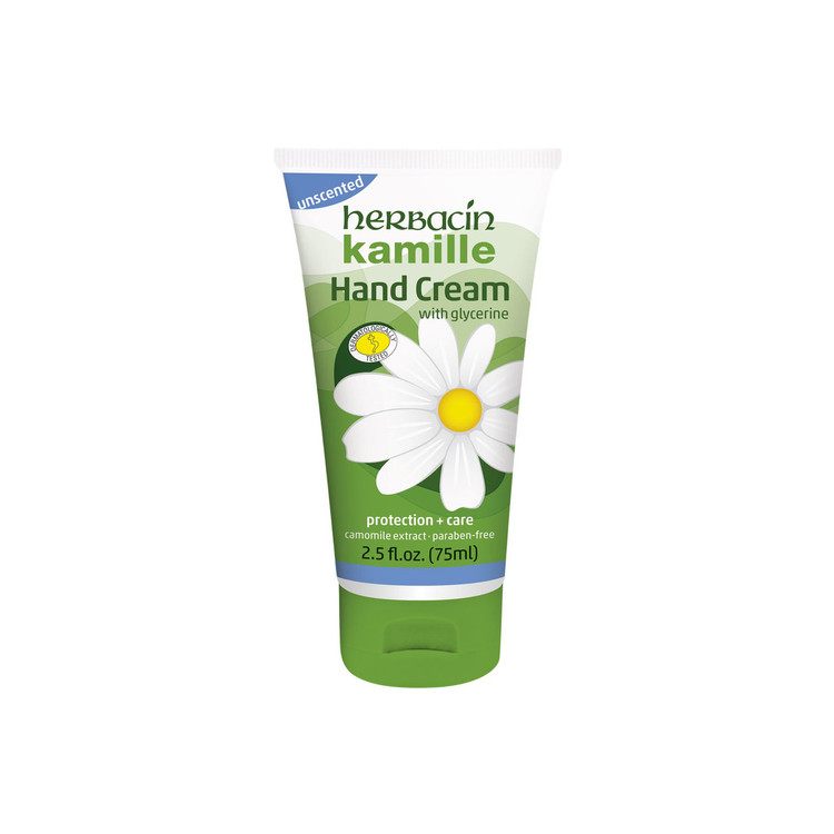 Herbacin kamille Hand cream - unscented - tube 2.5 fl. oz.