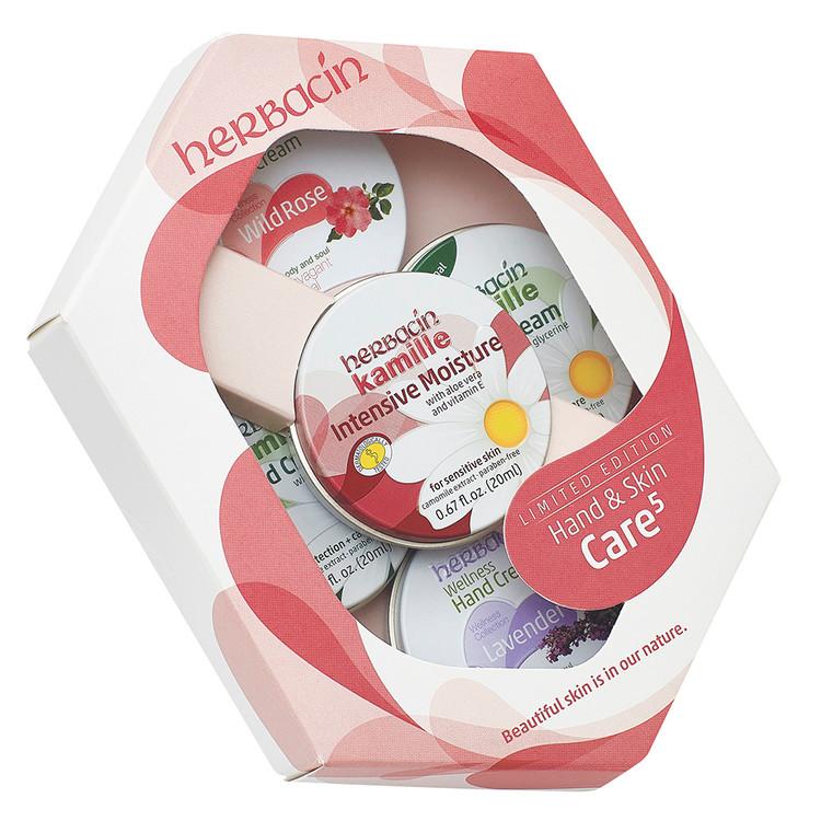 Hand & Skin Care 5 Tin Set (RED)