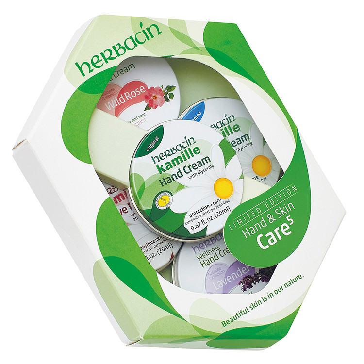 Hand & Skin Care 5 Tin Set (Green)