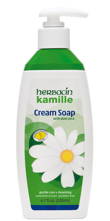Herbacin kamille Cream Soap 6.7 fl. oz. dispenser