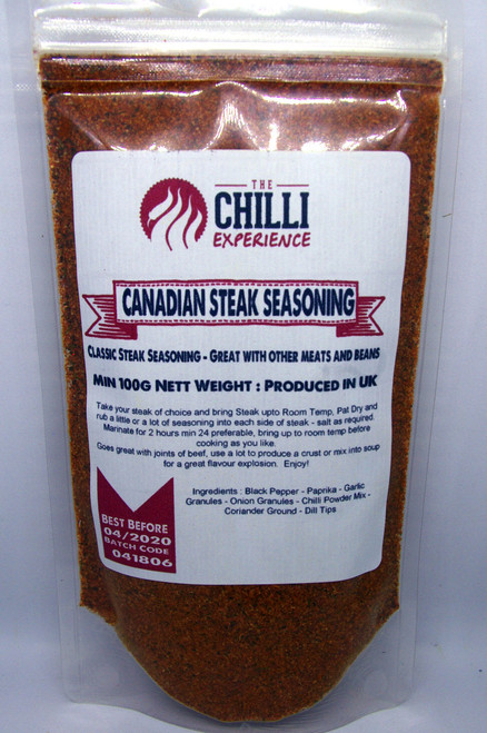 Canadian Steak Seasoning - SALT FREE - 100g