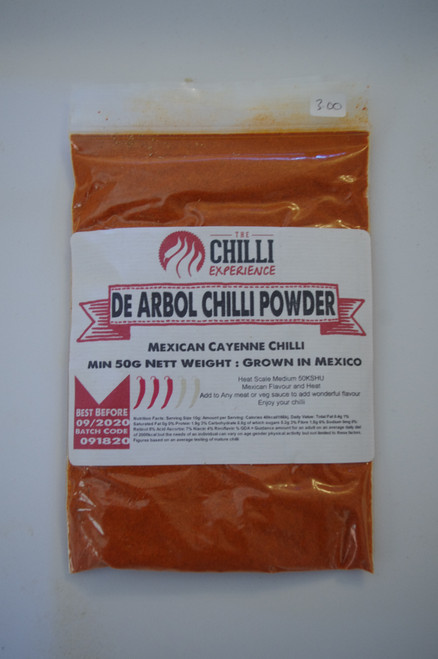 De Arbol Chilli Powder - 50g